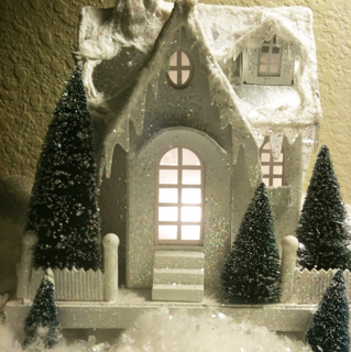 Glittery Xmas village!
