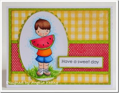 Angela Kelley-watermelon boy-framed
