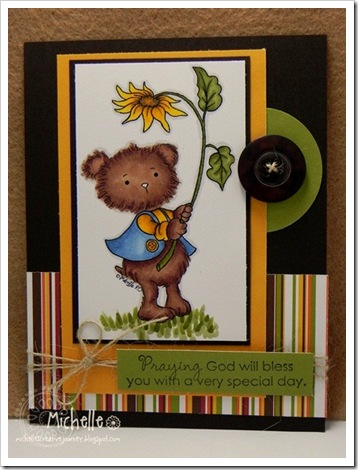 Michelle-Sunflower Teddy