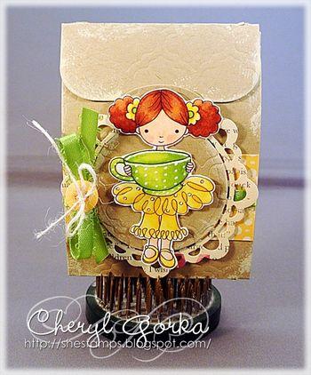 Digital Stamp: Coffee Girl