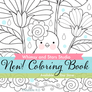Whimsy and Stars Coloring Book